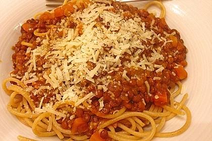 Vegetarische Linsen - Bolognese 3