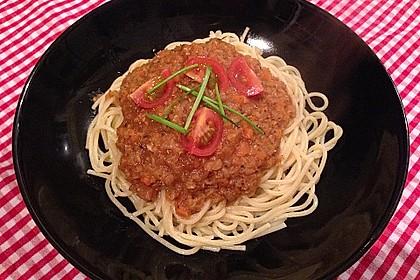 Vegetarische Linsen - Bolognese 1