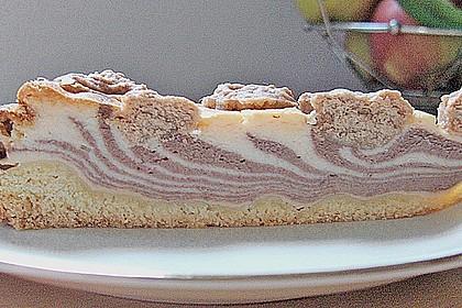 Vanilliger Zebra - Zupfkuchen 3