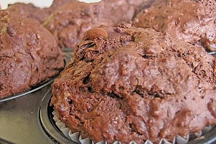 Schokoladen Muffins für Eilige 24