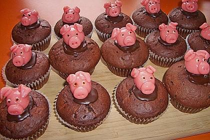 Schokoladen Muffins für Eilige 18