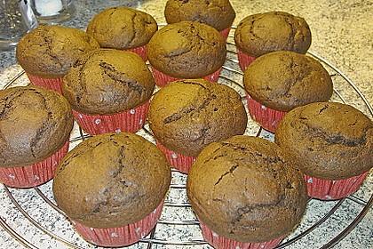 Schokoladen Muffins für Eilige 16