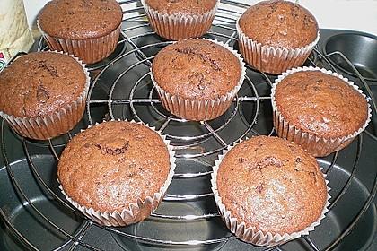 Schokoladen Muffins für Eilige 10