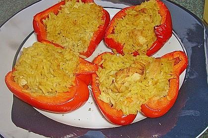 Paprika mit Geflügel - Curry - Füllung 7