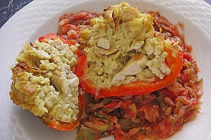 Paprika mit Geflügel - Curry - Füllung 21