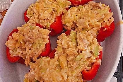 Paprika mit Geflügel - Curry - Füllung (Bild)