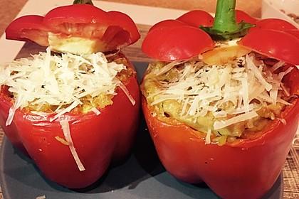 Paprika mit Geflügel - Curry - Füllung 2