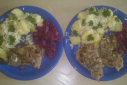 Schnitzel vom Schwein mit Champignons 1