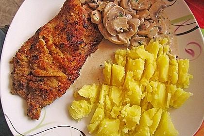 Schnitzel vom Schwein mit Champignons 3