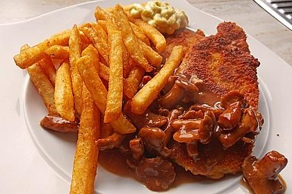 Schnitzel vom Schwein mit Champignons 4