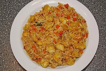 Indischer Gemüsereis mit Mandarinen 2