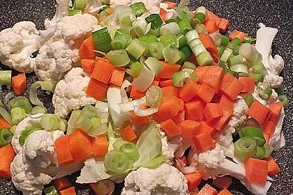 Indischer Gemüsereis mit Mandarinen 4
