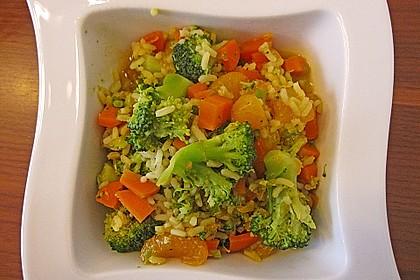 Indischer Gemüsereis mit Mandarinen 1