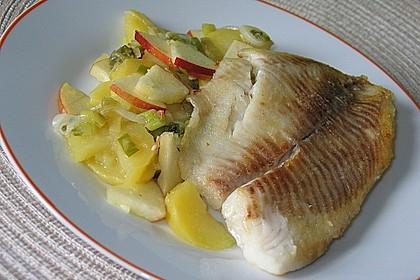 Seelachs mit Kartoffel - Apfel - Salat 1