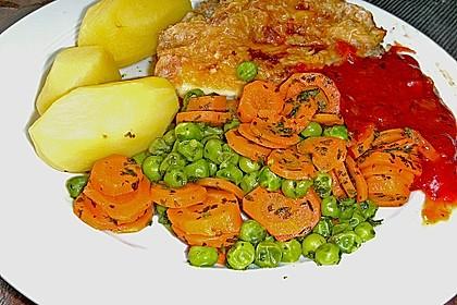 Frisches Erbsen - und Möhrengemüse 12
