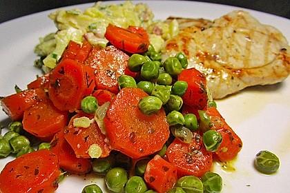 Frisches Erbsen - und Möhrengemüse 2