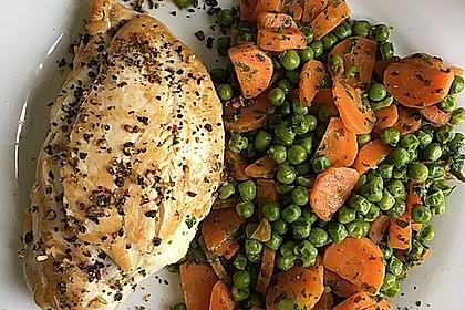 Frisches Erbsen - und Möhrengemüse 10