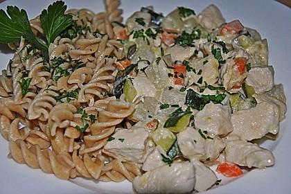 Hähnchen - Kohlrabi - Zucchini Pfanne 3