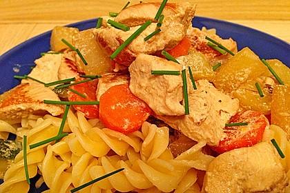 Hähnchen - Kohlrabi - Zucchini Pfanne 6