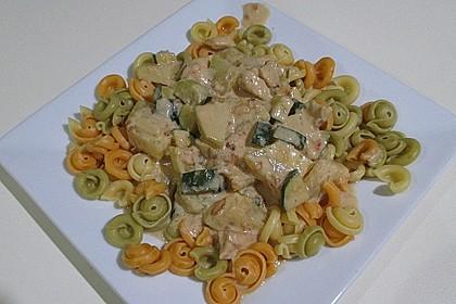 Hähnchen - Kohlrabi - Zucchini Pfanne 5