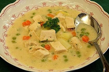 Feine Hühnercremesuppe 1