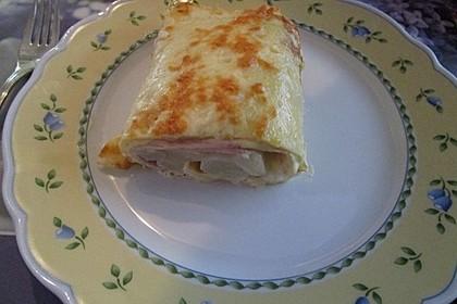 Omelett mit Spargel - Käse - Füllung 2
