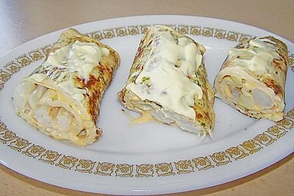 Omelett mit Spargel - Käse - Füllung