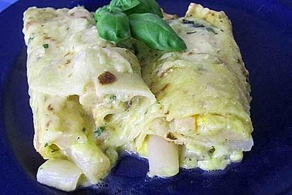 Omelett mit Spargel - Käse - Füllung 3