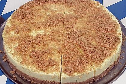 Götterspeise - Frischkäse - Torte mit Kekskrümeln 1