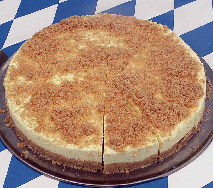 Gotterspeise Frischkase Torte Mit Kekskrumeln