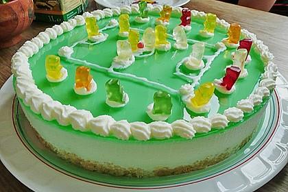 Götterspeise - Frischkäse - Torte mit Kekskrümeln