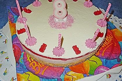 Götterspeise - Frischkäse - Torte mit Kekskrümeln 2
