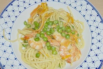 Spaghetti mit Crevetten