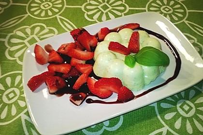 Basilikum - Quarkmousse mit Balsamico - Erdbeeren 1