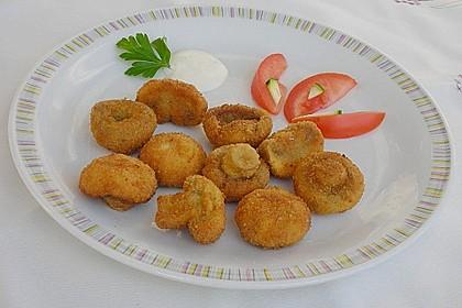 Panierte und frittierte Champignons 3