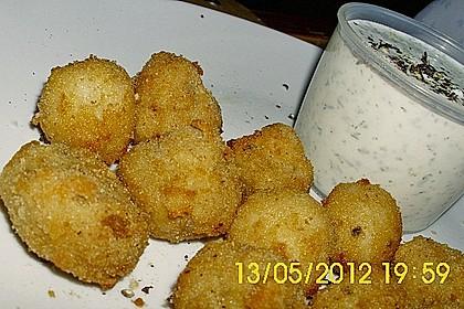 Panierte und frittierte Champignons 8