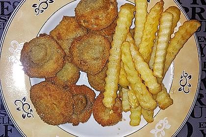 Panierte und frittierte Champignons 10