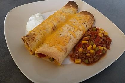 Überbackene Enchiladas mit Tzatziki 13