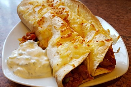 Überbackene Enchiladas mit Tzatziki 5