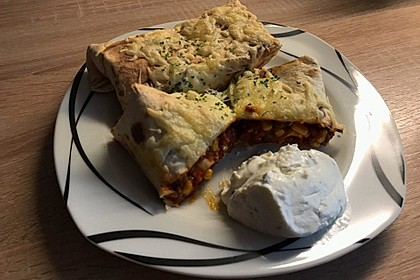 Überbackene Enchiladas mit Tzatziki 4