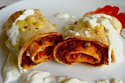 Überbackene Enchiladas mit Tzatziki 7