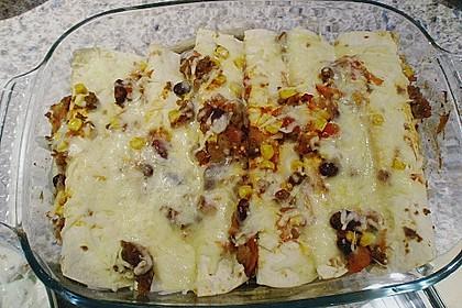 Überbackene Enchiladas mit Tzatziki 14