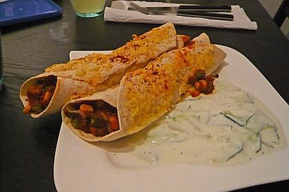 Überbackene Enchiladas mit Tzatziki 11
