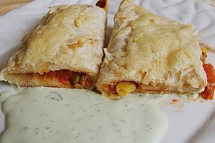 Überbackene Enchiladas mit Tzatziki 9