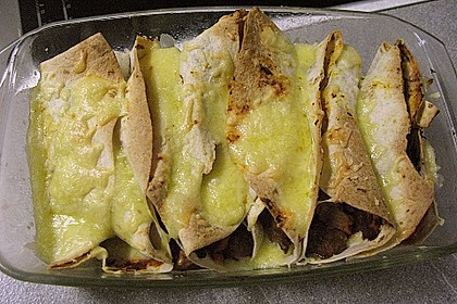Überbackene Enchiladas mit Tzatziki 31