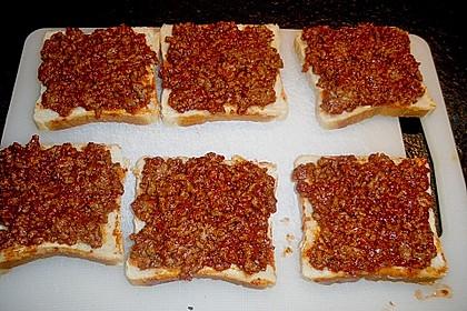 Sandwiches mit Hack und Käse 3