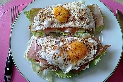 Spiegelei-Brot im Frühling 6
