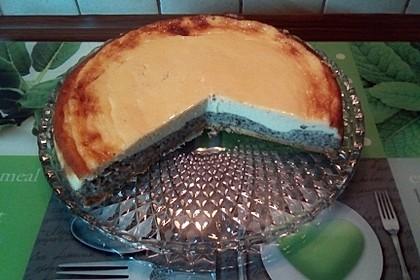Mohnkuchen mit Schmand und Vanillepudding 19
