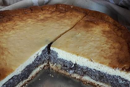 Mohnkuchen mit Schmand und Vanillepudding 5