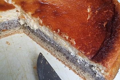 Mohnkuchen mit Schmand und Vanillepudding (Bild)